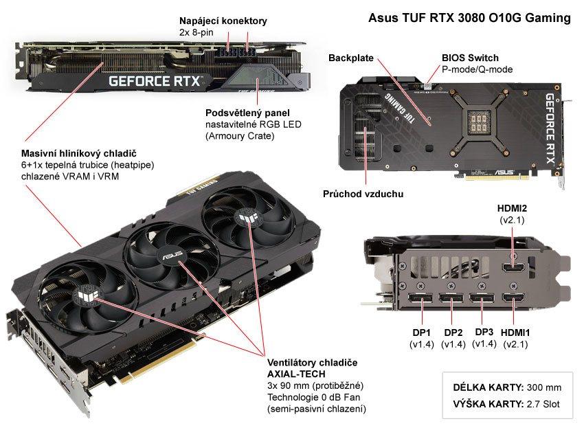 Asus TUF RTX 3080 O10G Gaming; popis