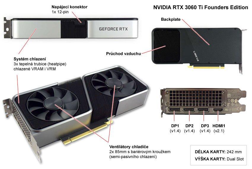 NVIDIA RTX 3060 Ti FE; popis