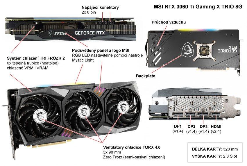 MSI RTX 3060 Ti Gaming X TRIO; popis