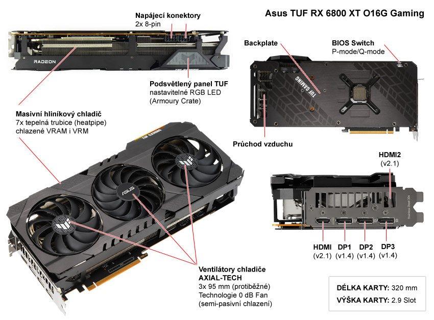 Asus TUF RX 6800 XT O16G Gaming; popis