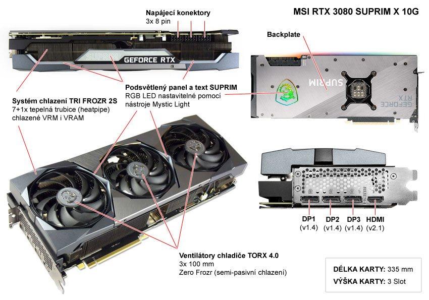 MSI RTX 3080 SUPRIM X 10G; popis