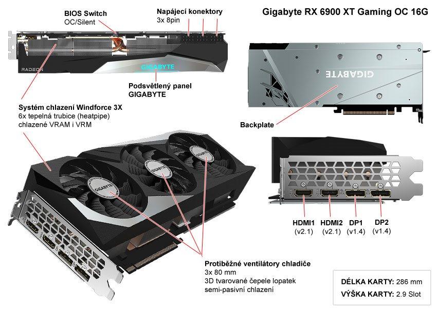 Gigabyte RX 6900 XT Gaming OC 16G; popis
