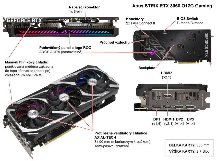 Asus STRIX RTX 3060 O12G Gaming; popis