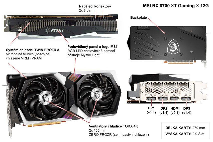 MSI RX 6700 XT Gaming X 12G; popis