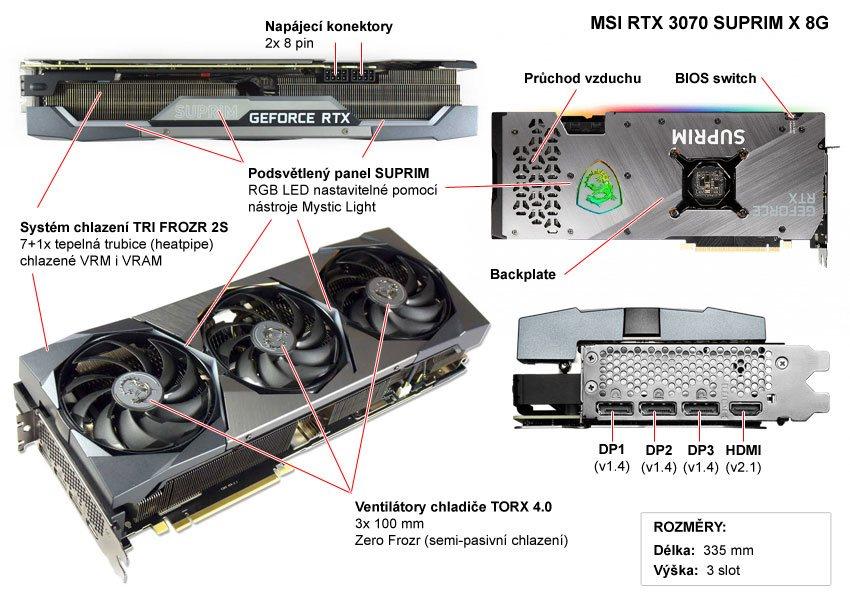 MSI RTX 3070 SUPRIM X 8G; popis
