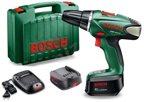 bosch psr 18 li 2 2x battery drill driver. Black Bedroom Furniture Sets. Home Design Ideas