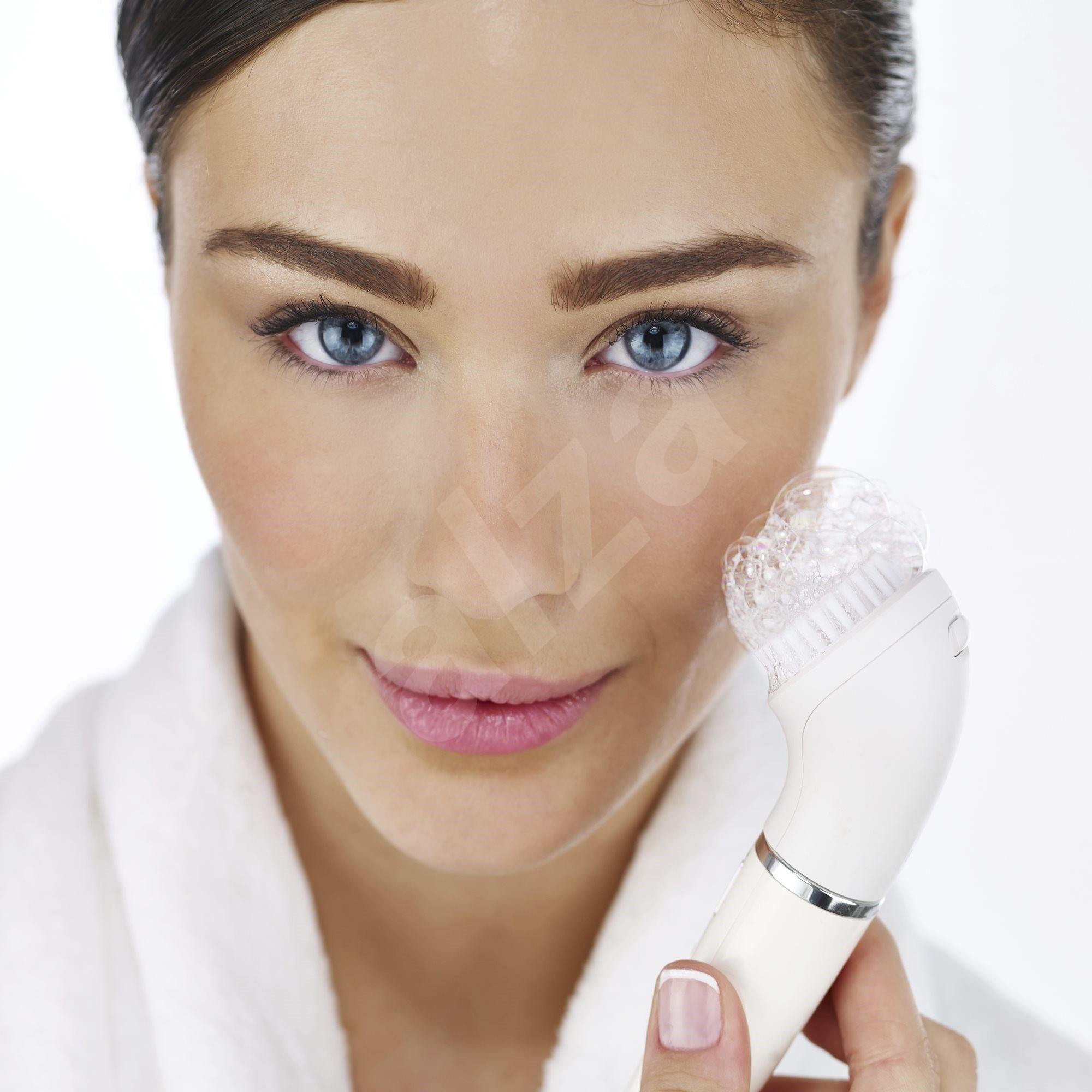 how to clean braun face epilator