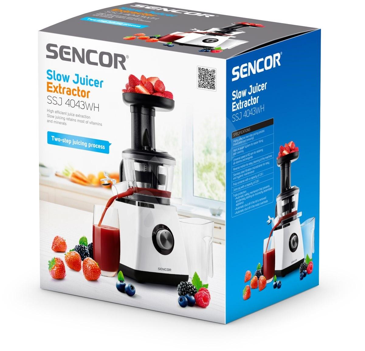 Sencor Slow Juicer Extractor Ssj 4043wh : Sencor SSJ 4043WH - Juicer Alzashop.com