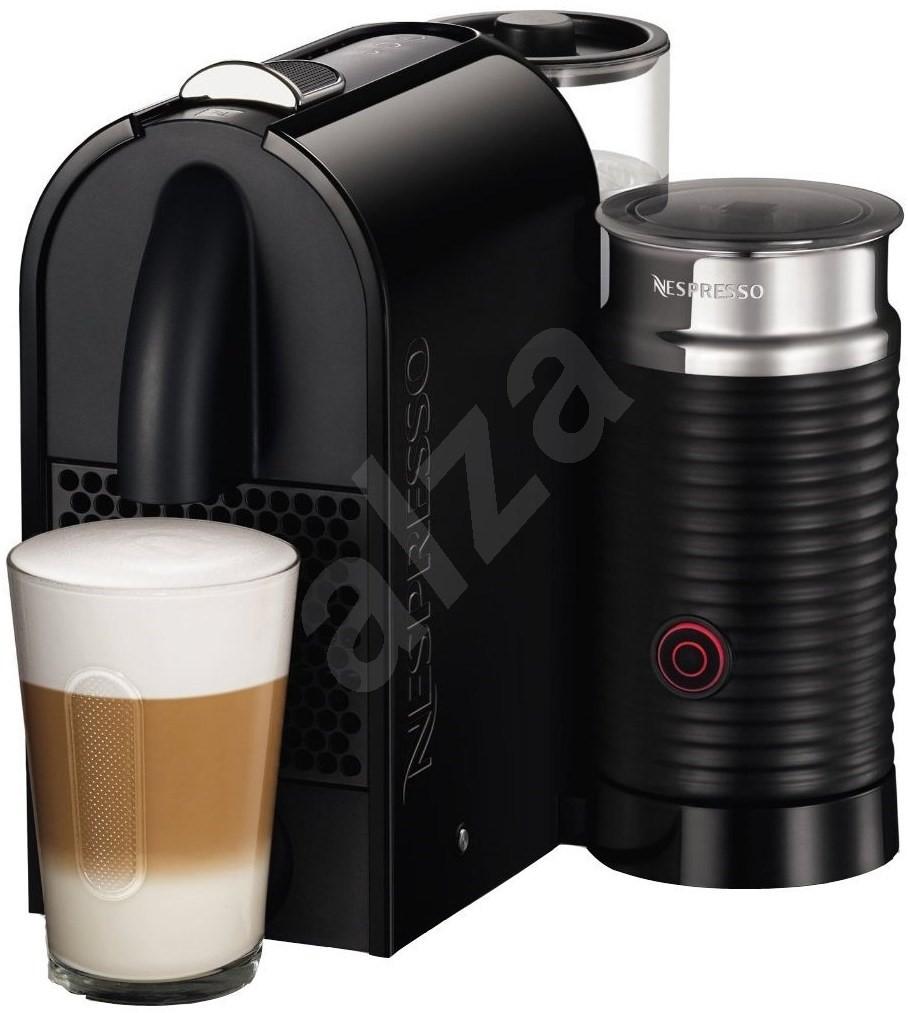 nespresso de longhi u milk pure black espresso machine. Black Bedroom Furniture Sets. Home Design Ideas