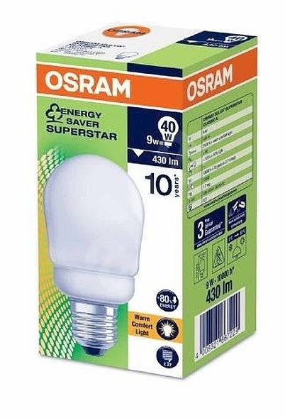 osram dulux superstar 9w e27 fluorescent light. Black Bedroom Furniture Sets. Home Design Ideas
