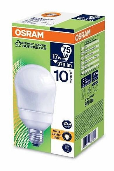 osram dulux superstar 17w e27 fluorescent light. Black Bedroom Furniture Sets. Home Design Ideas