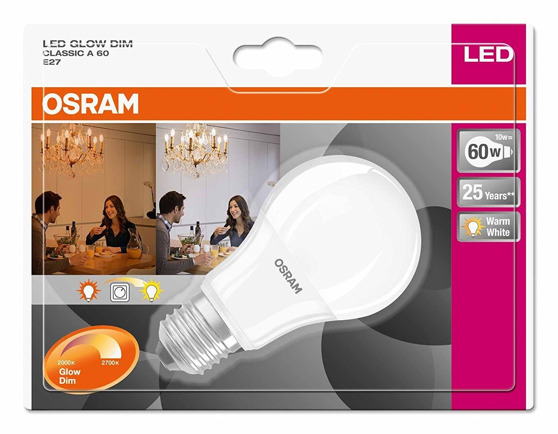 osram led superstar glowdim 10w e27 2000k 2700k led bulb. Black Bedroom Furniture Sets. Home Design Ideas