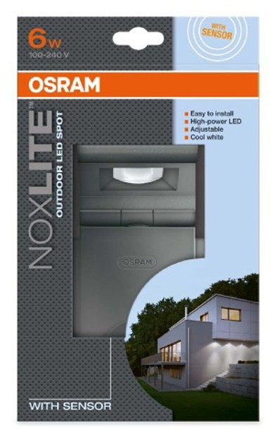 osram noxlite led spot sensor 6w sv tilna. Black Bedroom Furniture Sets. Home Design Ideas