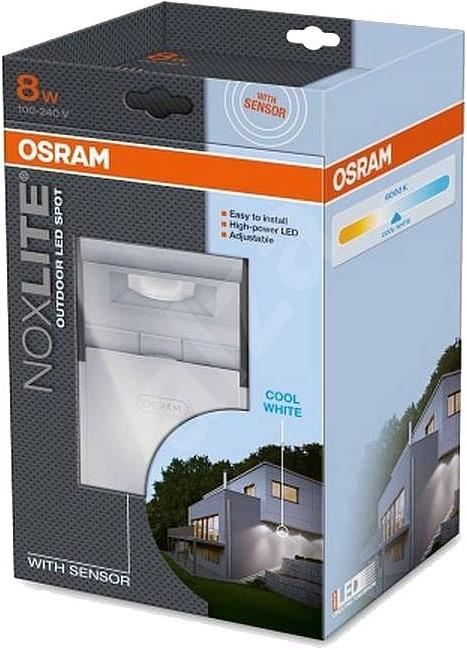 noxlite osram led spot sensor 8w white light. Black Bedroom Furniture Sets. Home Design Ideas