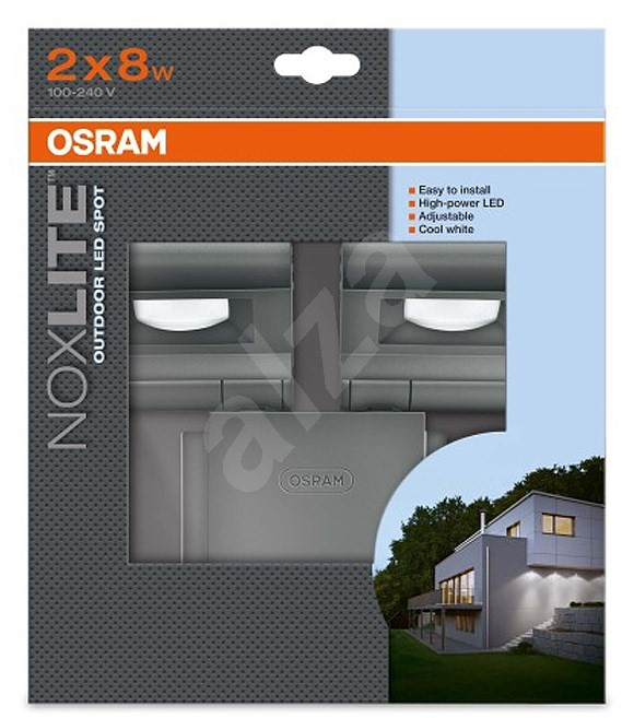 osram noxlite led spot 2x8w sv tilna. Black Bedroom Furniture Sets. Home Design Ideas