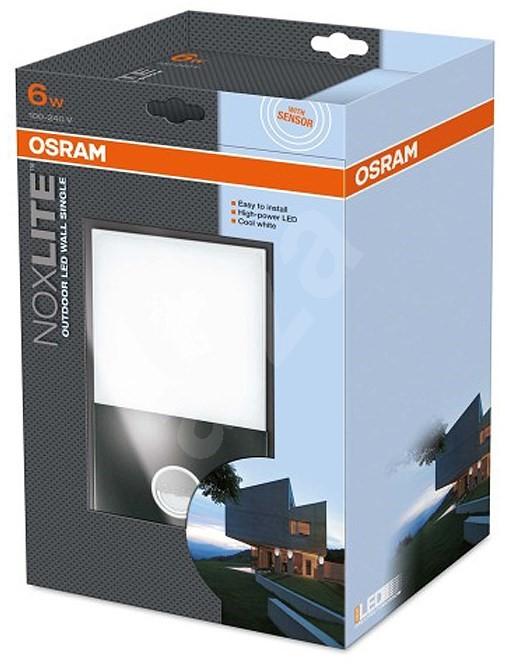 noxlite osram led wall sensor single 6w light. Black Bedroom Furniture Sets. Home Design Ideas