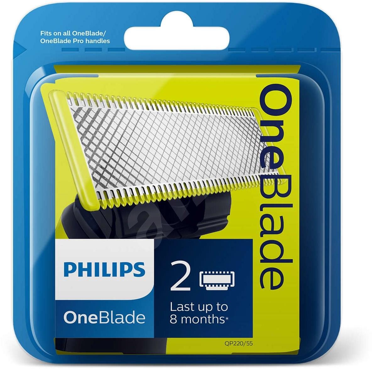 philips oneblade replacement blades 2pcs qp220 55 accessories. Black Bedroom Furniture Sets. Home Design Ideas