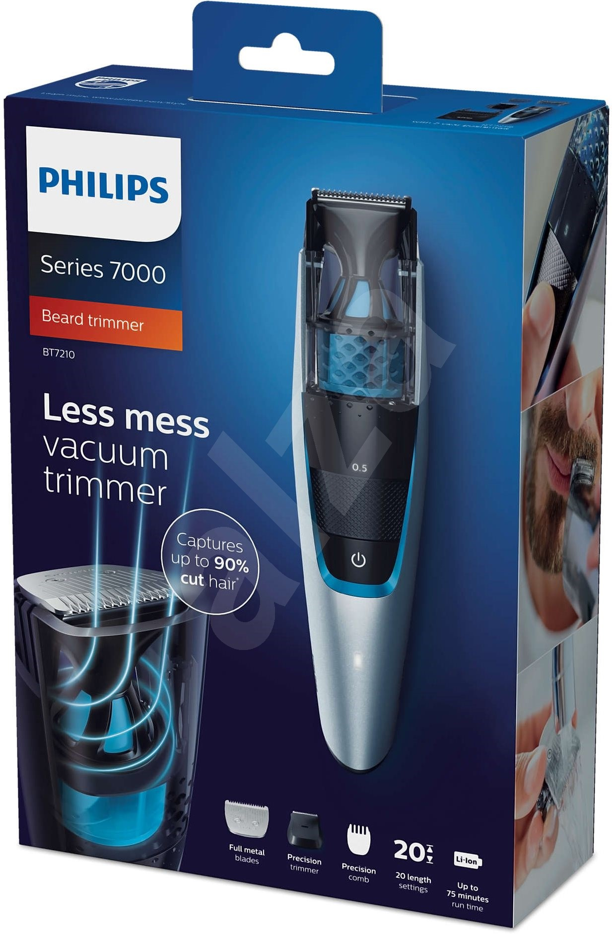 philips beardtrimmer series 7000 vacuum beard trimmer bt7210 15 hair and beard trimmer. Black Bedroom Furniture Sets. Home Design Ideas