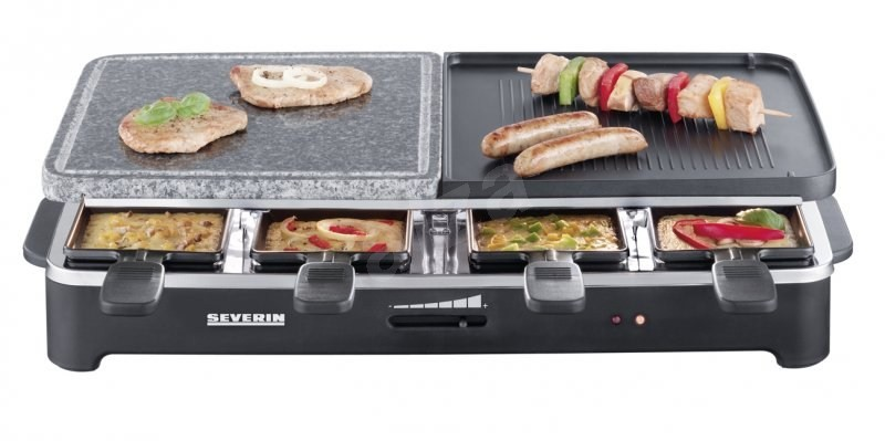 raclette partygrill severin rg 2341 elektrogrill. Black Bedroom Furniture Sets. Home Design Ideas