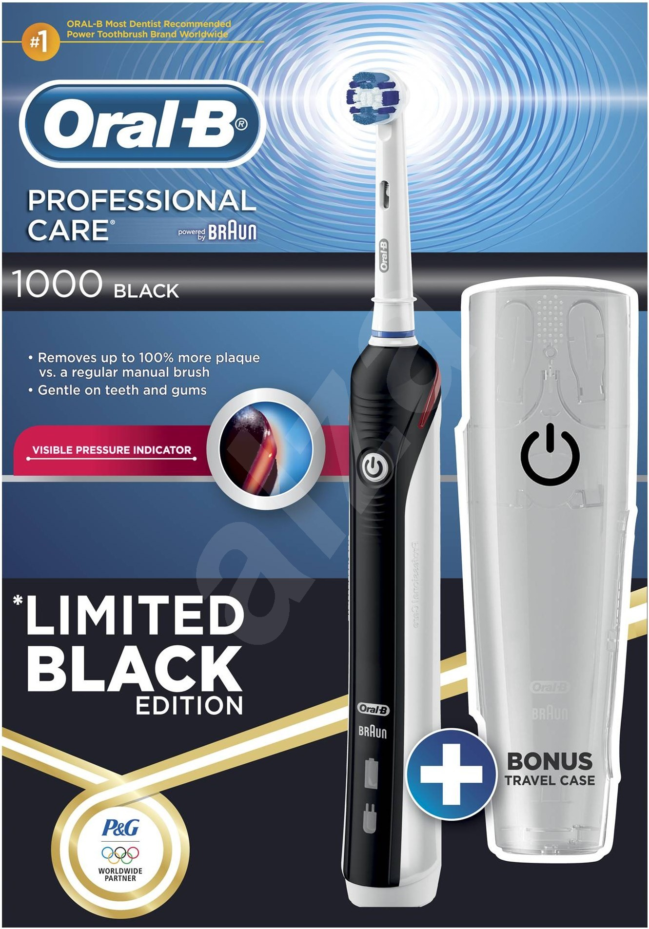 Oral B Professional Care 1000 Black - Electric Toothbrush | Alzashop.com