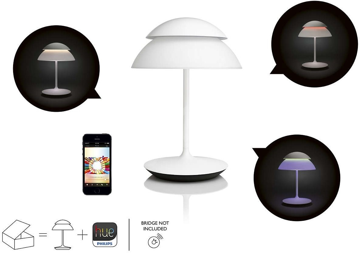 philips hue beyond tischlampe lampe. Black Bedroom Furniture Sets. Home Design Ideas