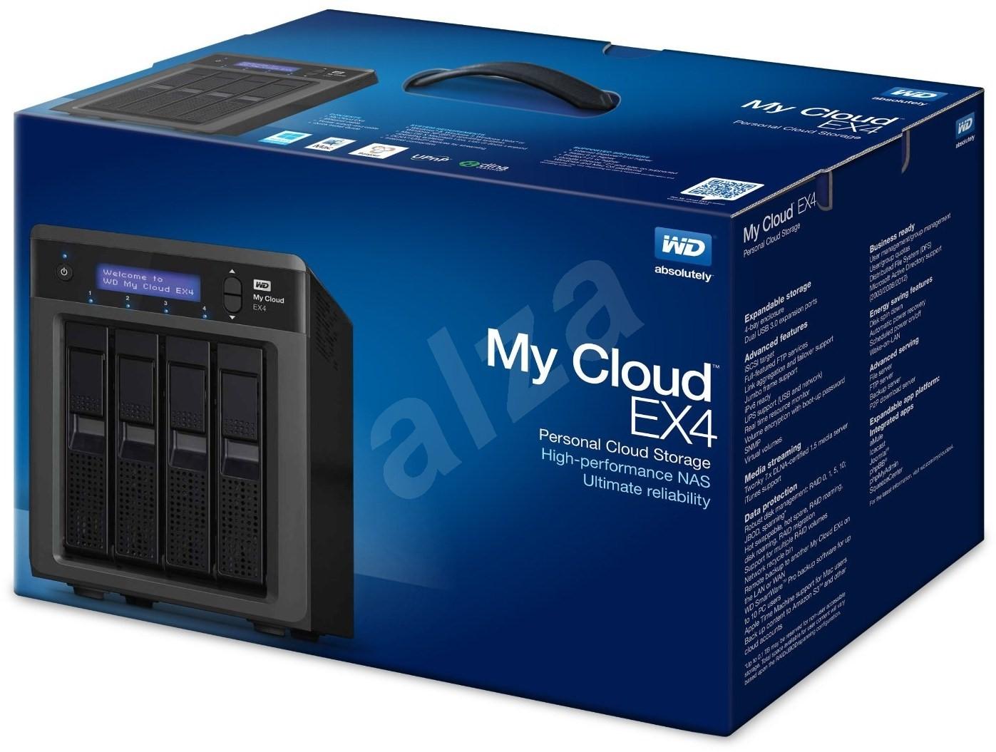 western digital my cloud ex4 8tb 4x 2tb data storage. Black Bedroom Furniture Sets. Home Design Ideas