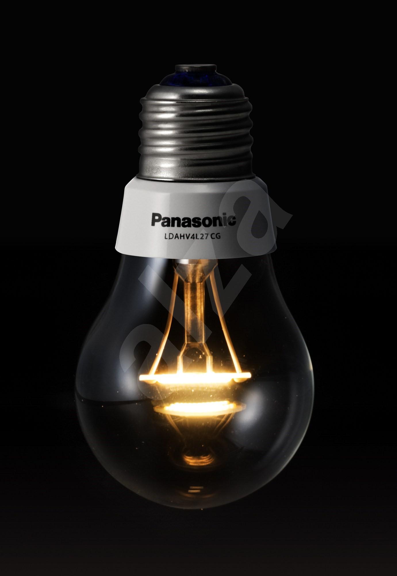 panasonic nostalgic klar 4 4w e27 2700k led lampen. Black Bedroom Furniture Sets. Home Design Ideas