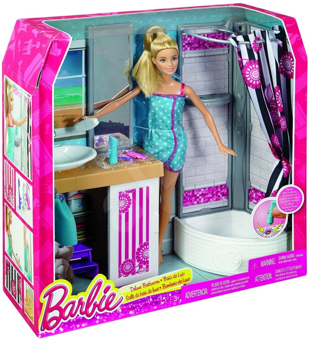 Barbie Room: Barbie - Doll Room And Bathroom - Play Set