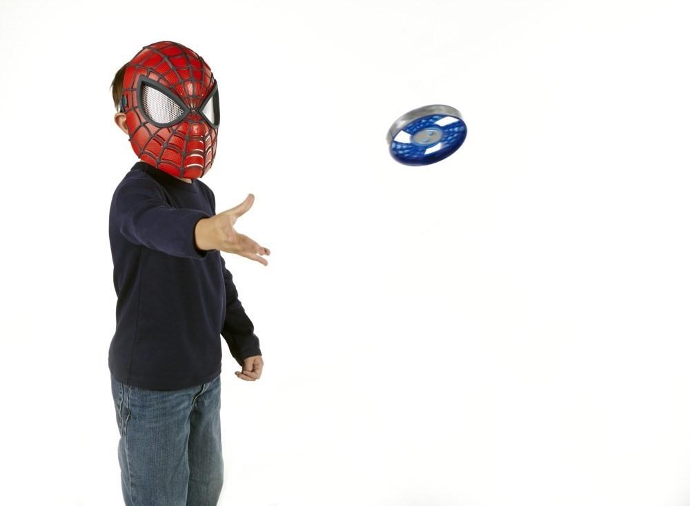 spiderman elektronische maske kinder gesichtsmaske. Black Bedroom Furniture Sets. Home Design Ideas