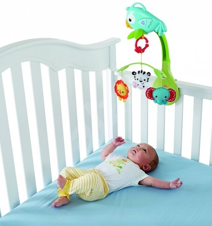 Fisher Price 3 In 1 Carousel Rainforest Crib Toy