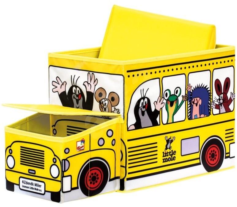 bino maulwurf boxen f r spielzeug bus deko f rs kinderzimmer. Black Bedroom Furniture Sets. Home Design Ideas