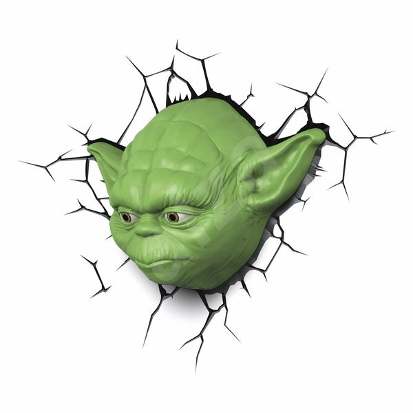 Star Wars Yoda 3D Wall Light With Remote Control - Lighting for children s rooms Alzashop.com