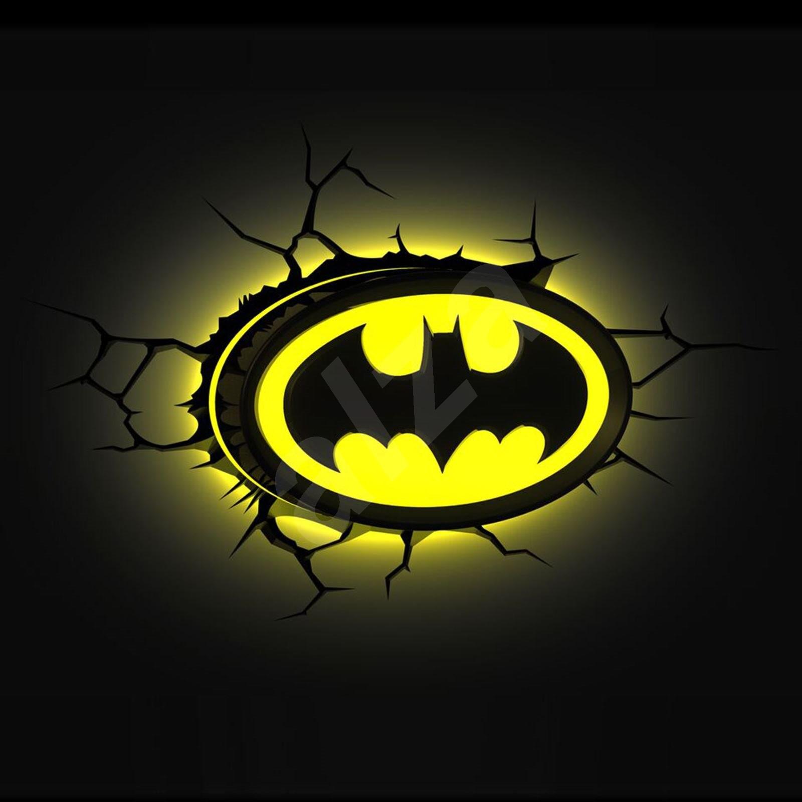 3d licht batman logo kinderzimmer beleuchtung - Licht kinderzimmer ...