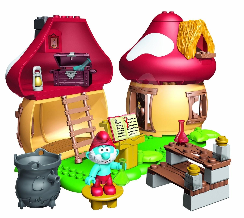 The Smurfs Papa Smurf House MegaBloks - Play Set ...