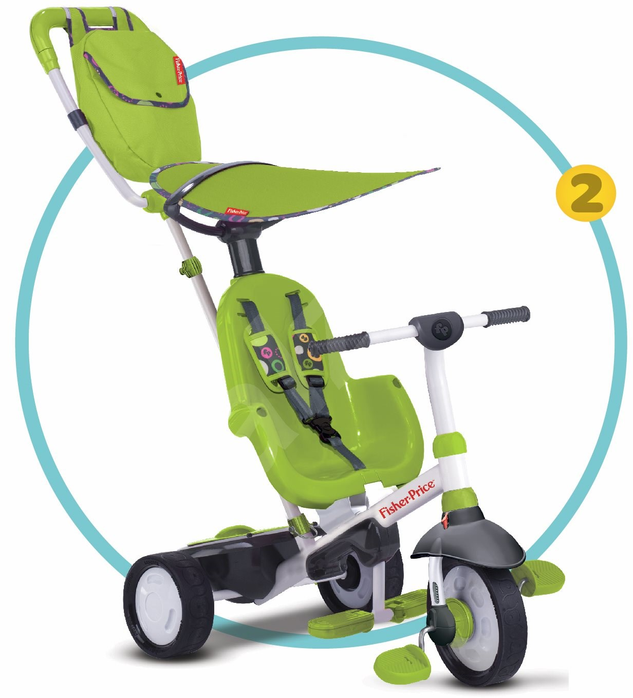 fisher price smart trike charisma green 3 in 1 tricycle. Black Bedroom Furniture Sets. Home Design Ideas
