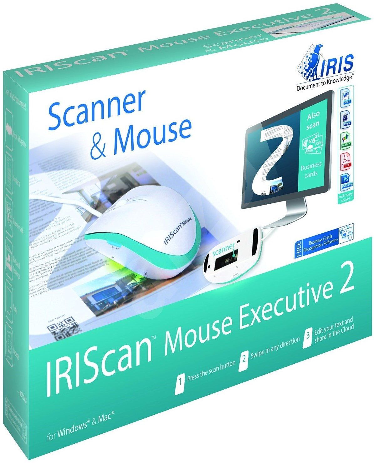 iris iriscan mouse executive 2 white scanner. Black Bedroom Furniture Sets. Home Design Ideas