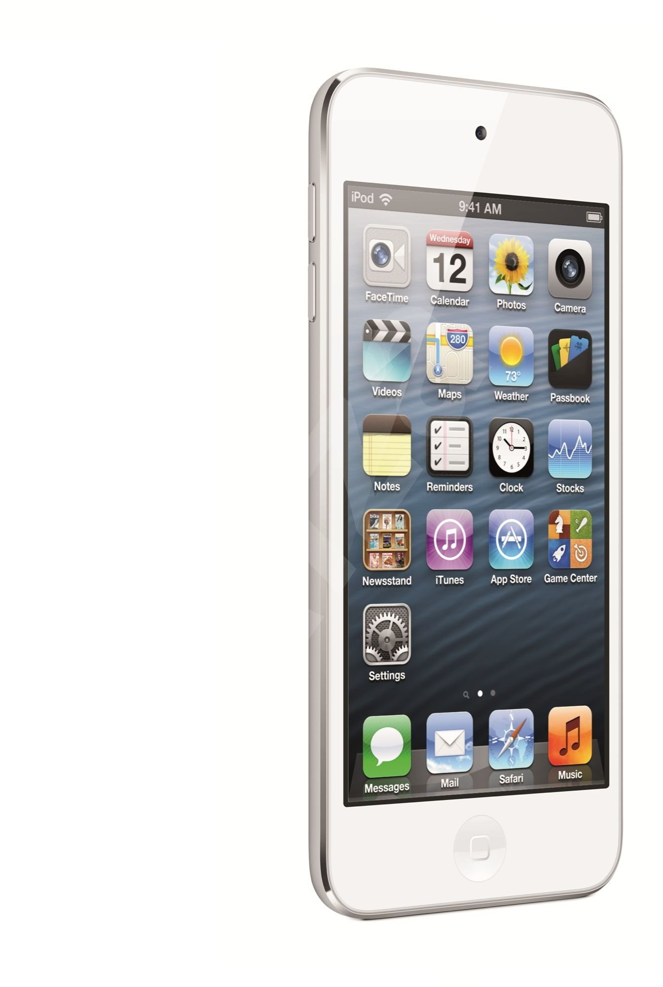 mp3 player ipod touch 5th 32 gigabytes white silver. Black Bedroom Furniture Sets. Home Design Ideas