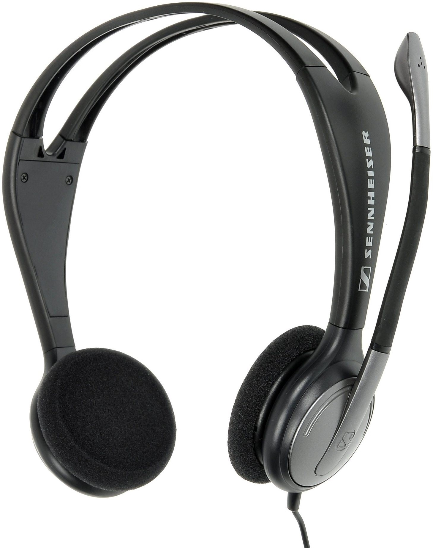 sennheiser pc 131 headphones with mic. Black Bedroom Furniture Sets. Home Design Ideas