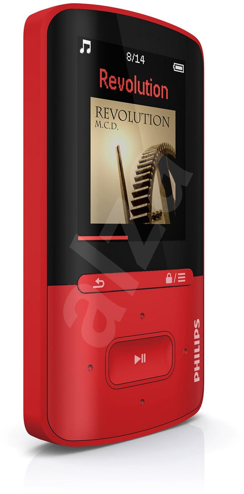 philips vibe sa4vbe04rf red mp4 player. Black Bedroom Furniture Sets. Home Design Ideas
