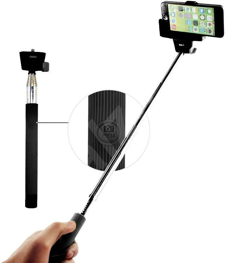 c tech mp107m telescopic selfie holder selfie stick. Black Bedroom Furniture Sets. Home Design Ideas