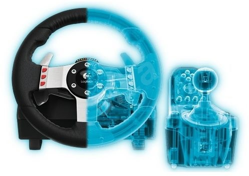 logitech g27 racing wheel gaming lenkrad. Black Bedroom Furniture Sets. Home Design Ideas