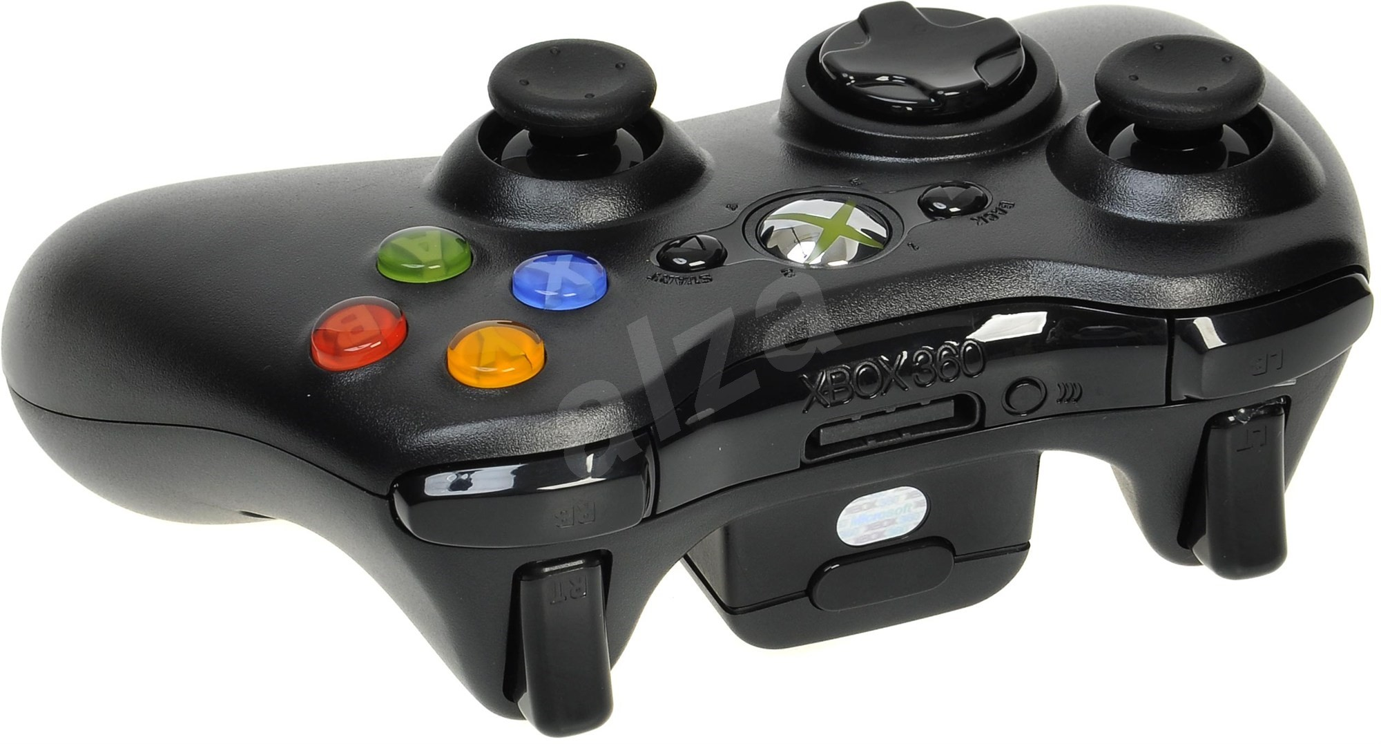 microsoft xbox 360 wireless controller black new gamepad. Black Bedroom Furniture Sets. Home Design Ideas