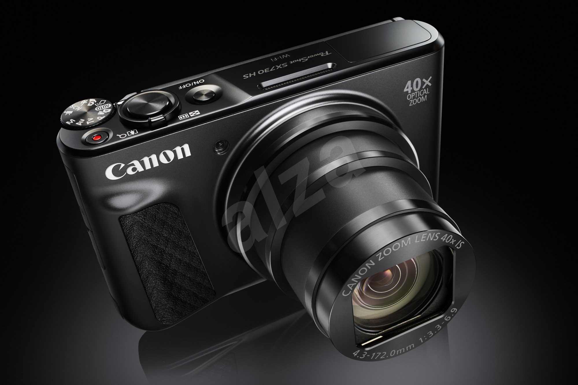 canon powershot sx730 hs black digital camera. Black Bedroom Furniture Sets. Home Design Ideas
