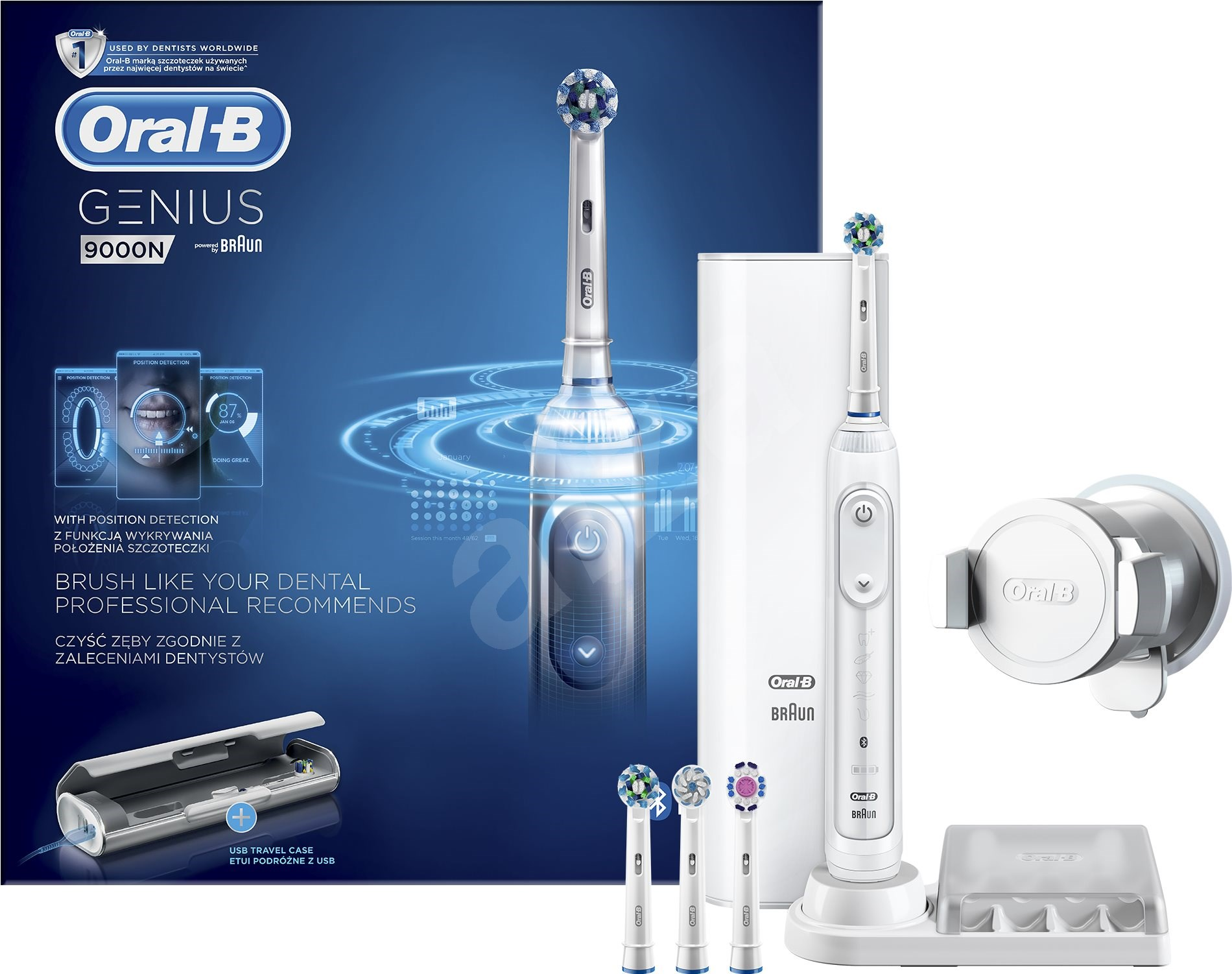 Oral B Genius Pro 9000 White Electric Toothbrush Alzashop Com