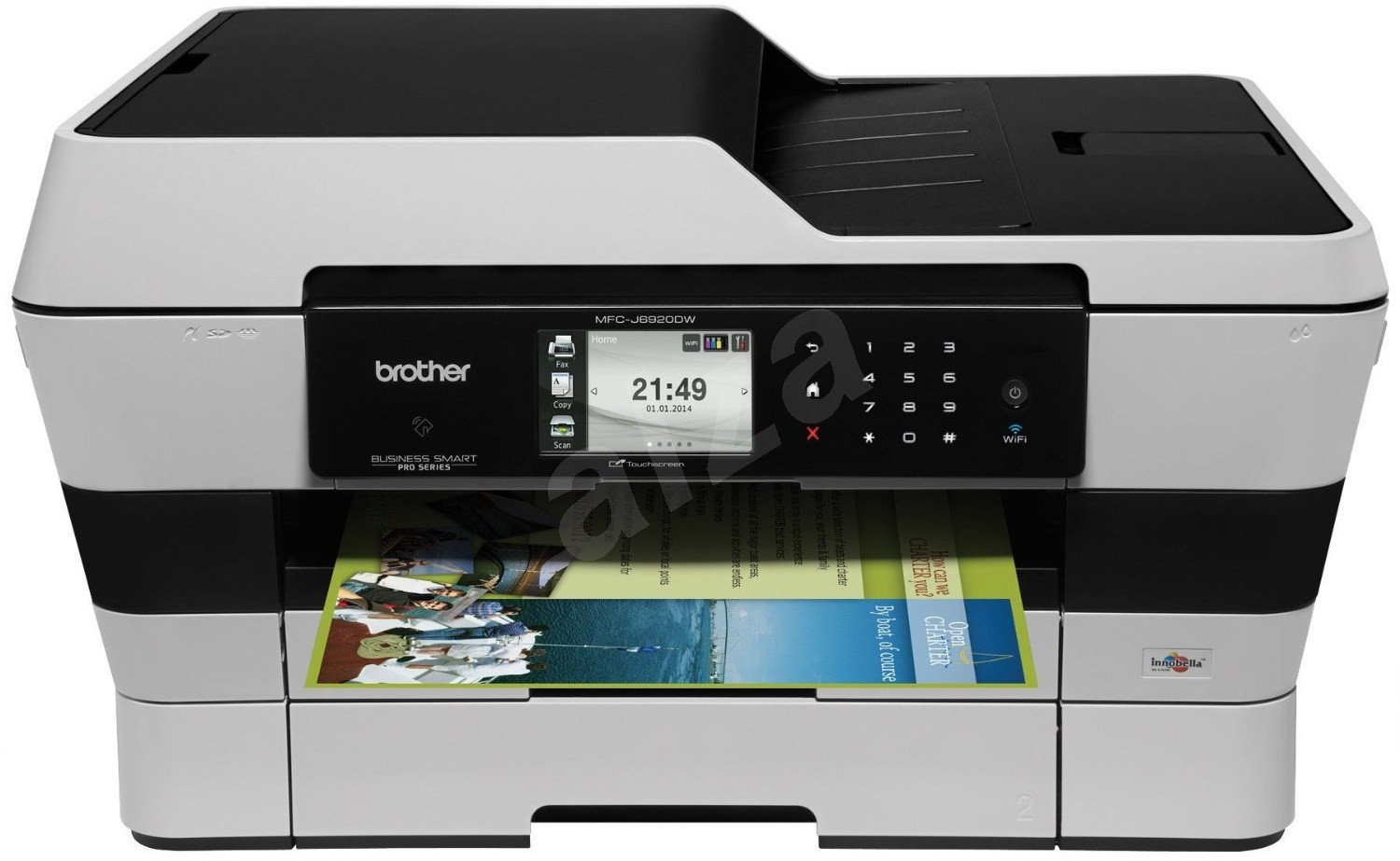 how to connect to brother priner using wifia