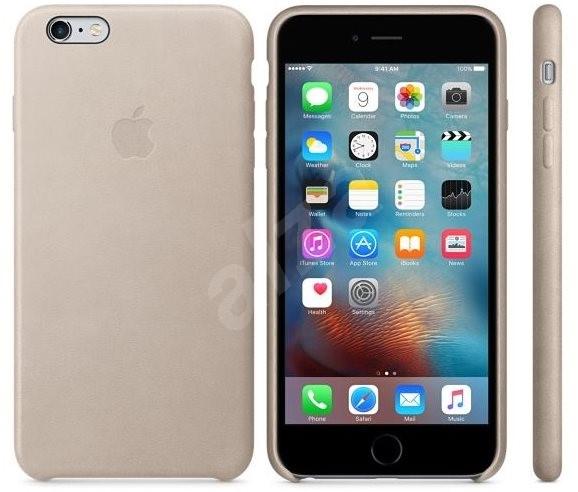 apple iphone 6s plus leder case hellgrau handyh lle. Black Bedroom Furniture Sets. Home Design Ideas