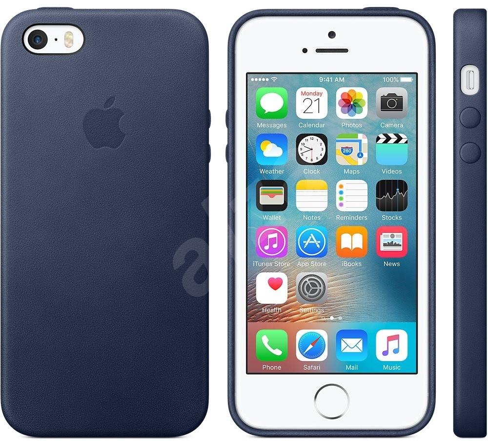 apple iphone se leder case mitternachtsblau handyh lle. Black Bedroom Furniture Sets. Home Design Ideas