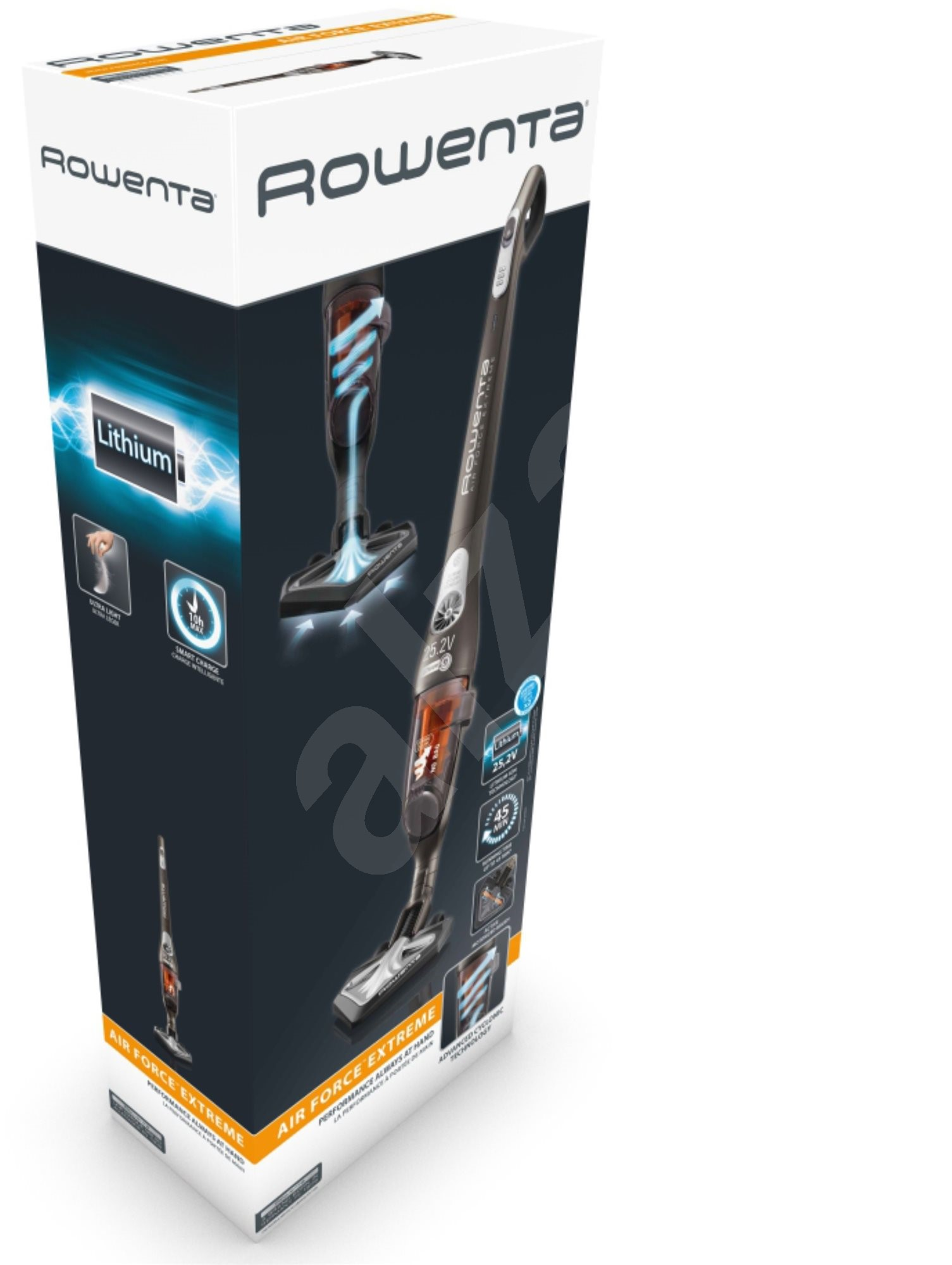 rowenta air force extreme li ion 25 2v rh8829wo cordless. Black Bedroom Furniture Sets. Home Design Ideas