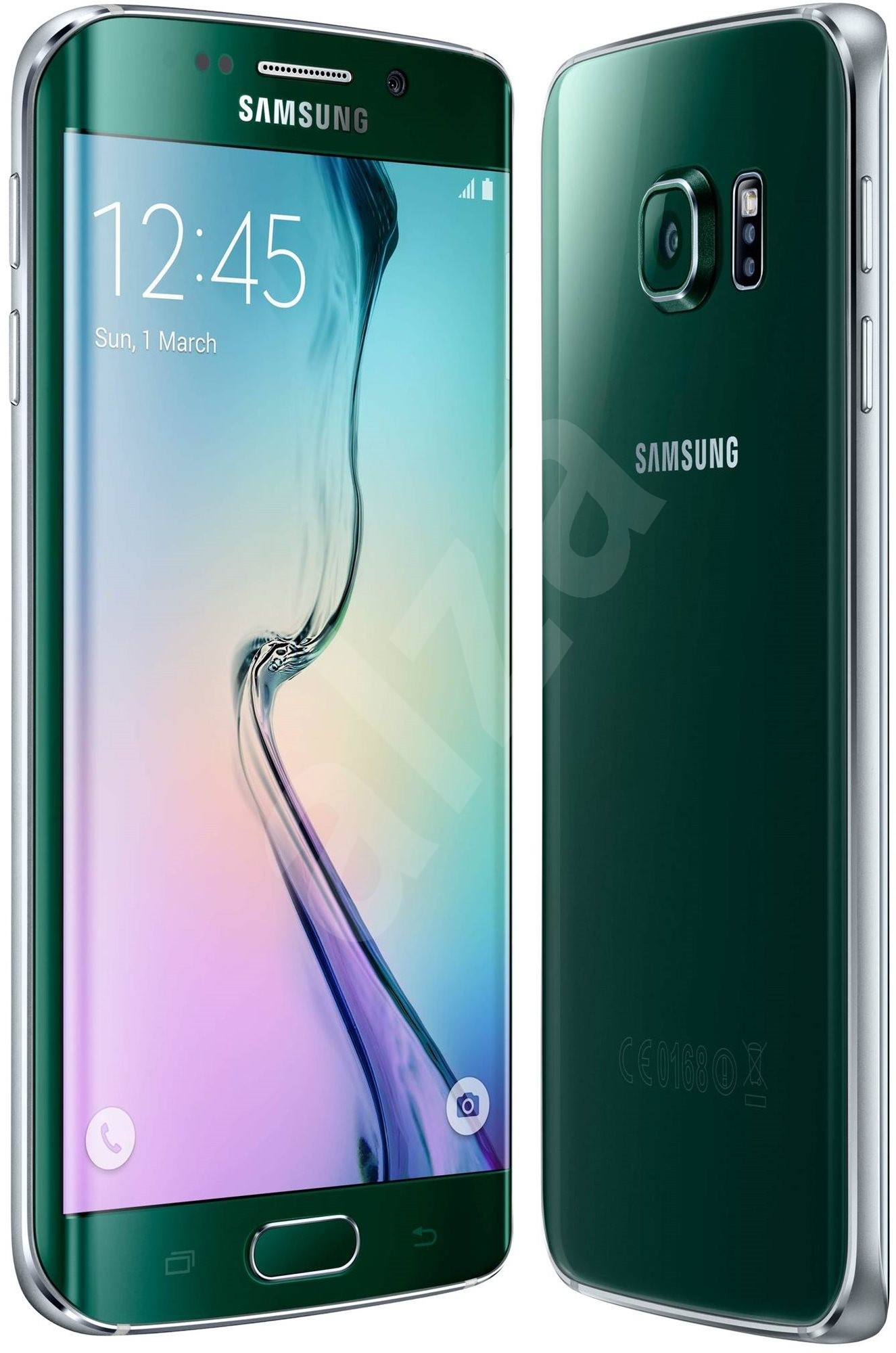 samsung galaxy s6 edge sm g925f 64gb green emerald mobiln telefon. Black Bedroom Furniture Sets. Home Design Ideas