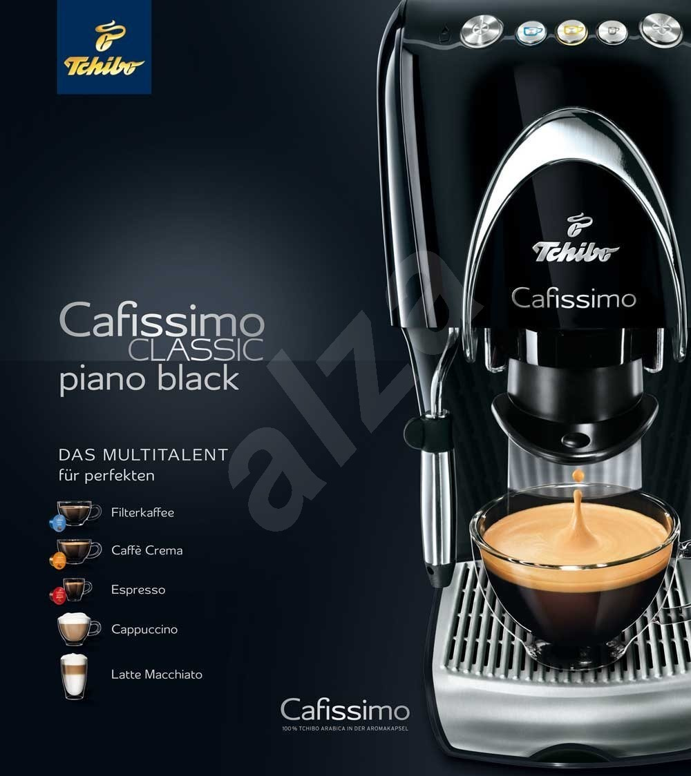 tchibo cafissimo classic piano black capsule coffee machine. Black Bedroom Furniture Sets. Home Design Ideas